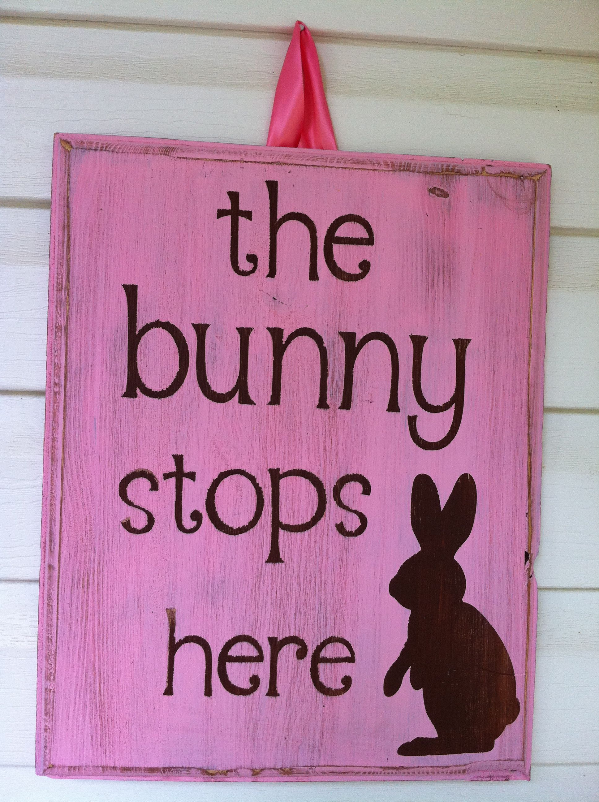 bunny board for easter-oh yes he does!