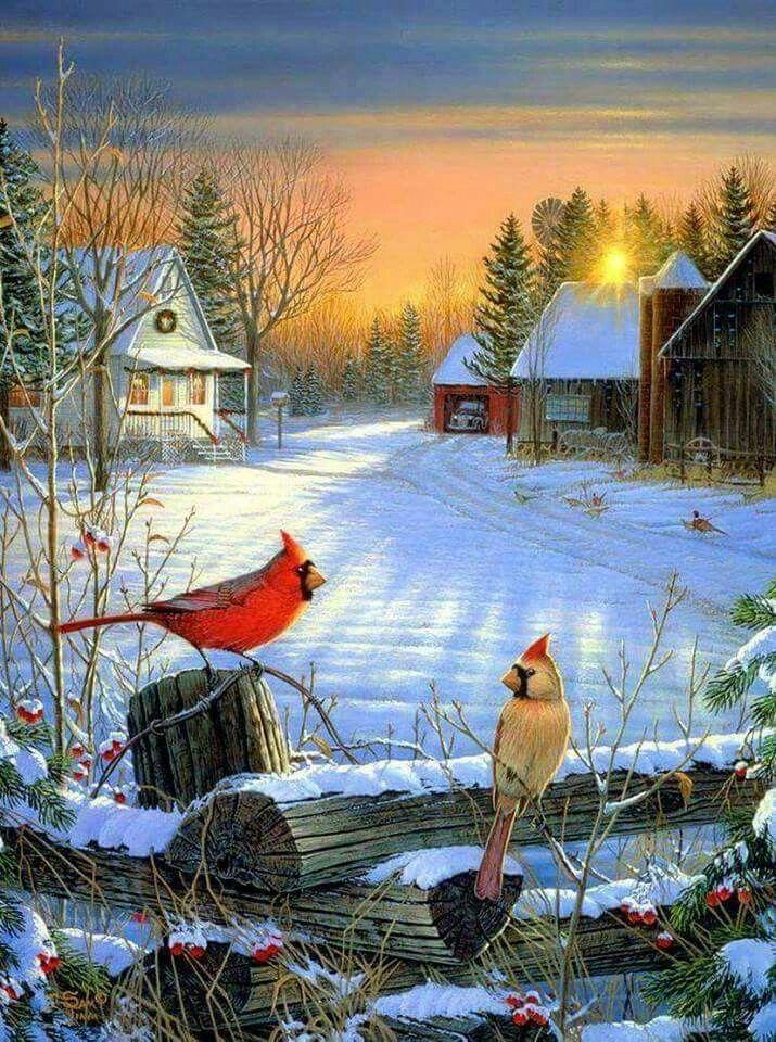 Pingl par chantal sur tableau paysage vintage pinterest noel hiver et peinture hiver - Paysage enneige dessin ...