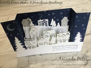 The Craft Spa - Stampin' Up! UK independent demonstrator : Hearts Come Home & Hometown Greetings Bridge U Fold card #4
