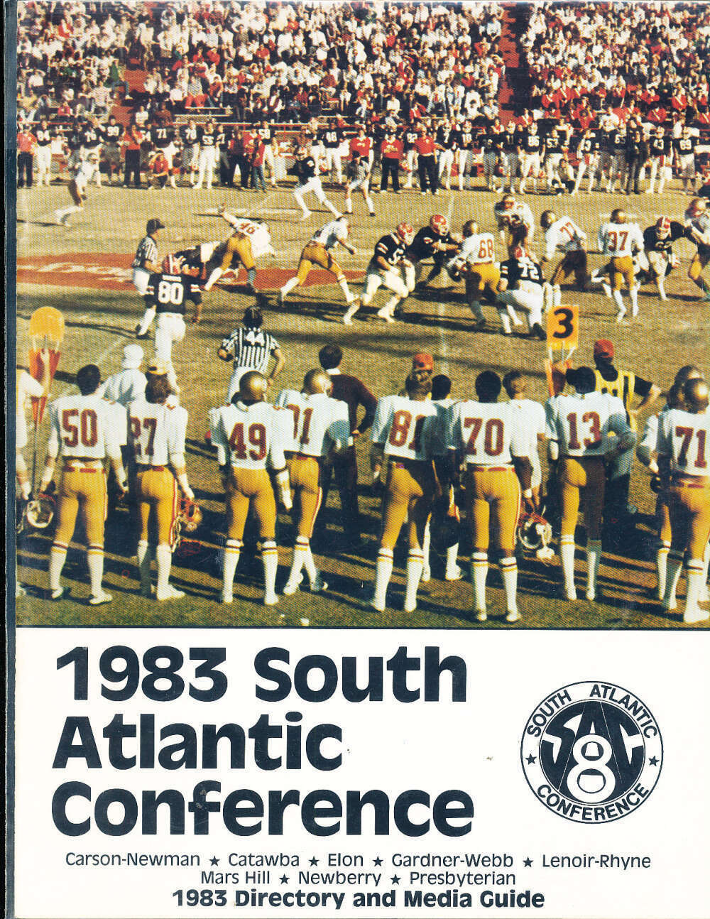 1983 Sac 8 South Atlantic Conference Football Media Guide Bxconf In 2020 Carson Newman Gardner Webb Conference