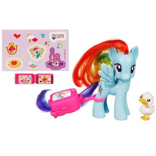 Cake Topper My Little Pony Figure Rainbow Dash With Suitcase Toys Games Reese 39 S