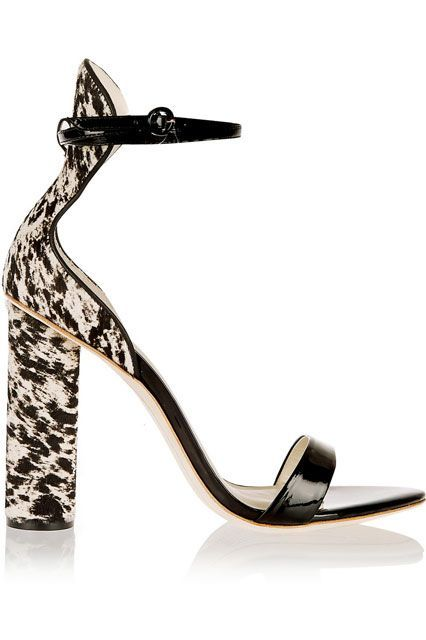 Hot Deals Sophia Webster Sandals Black J Crew Nicole Patent leather And Calf Hair
