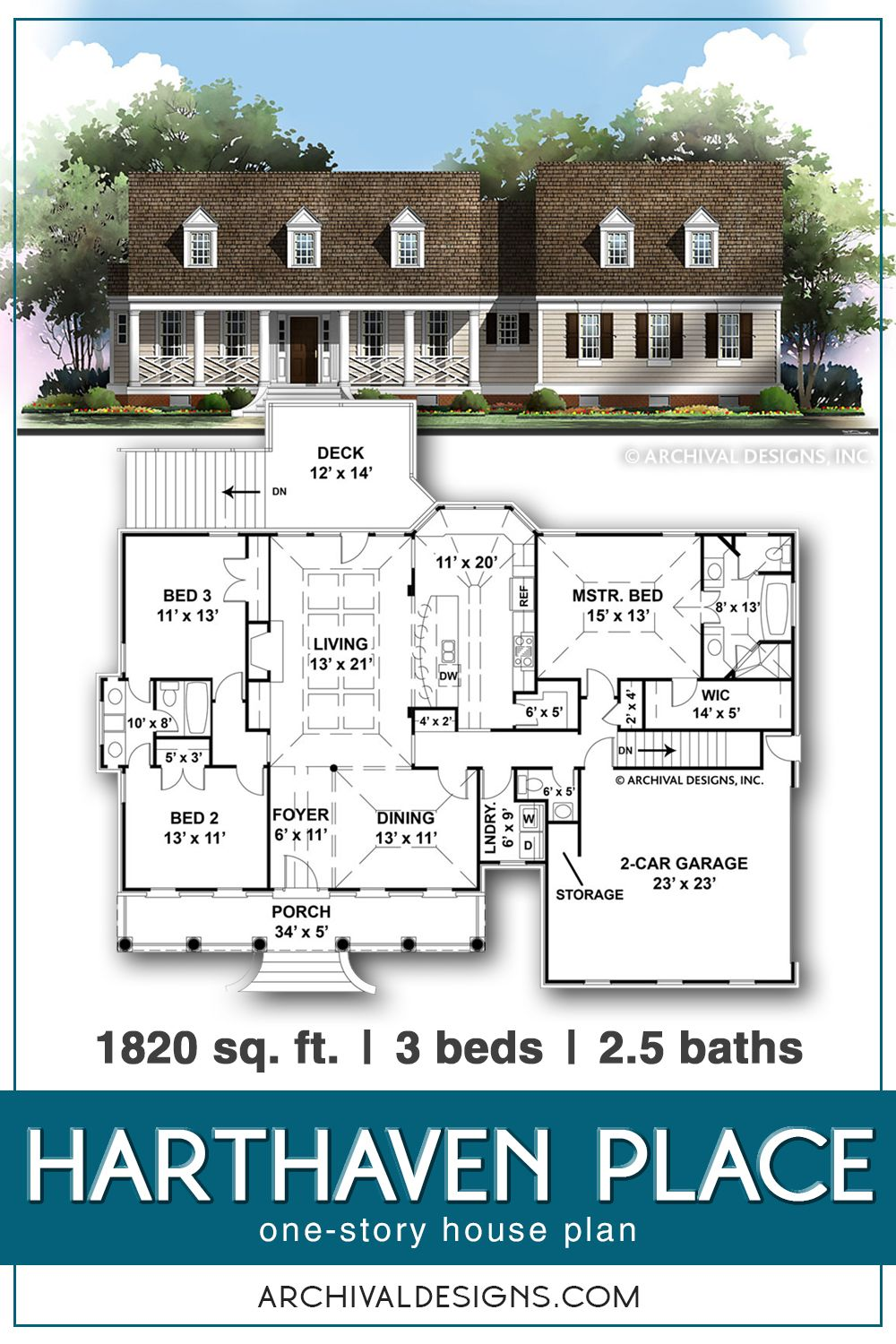Old Farmhouse Plans One Story