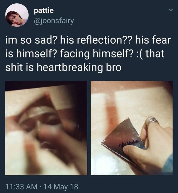 Photo of I feel him. I'm scared of myself too. I don't trust me with myself anymore n…