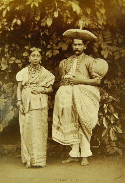 Ceylon upper class clothing- 19th century