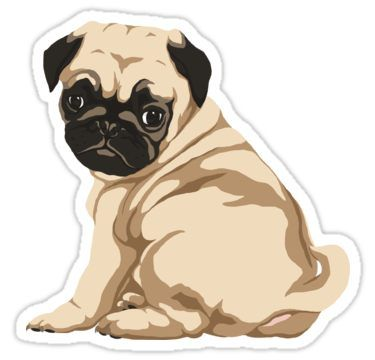 Pug Puppy Sticker By Lilnellan Tumblr Stickers Pugs Cool Stickers