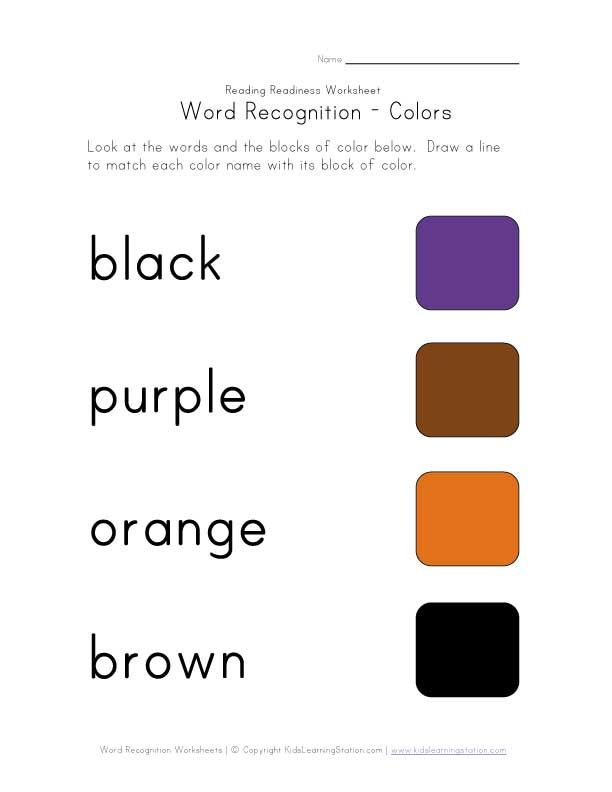 recognize color names worksheet homeschooling preschool worksheets for kids worksheets. Black Bedroom Furniture Sets. Home Design Ideas