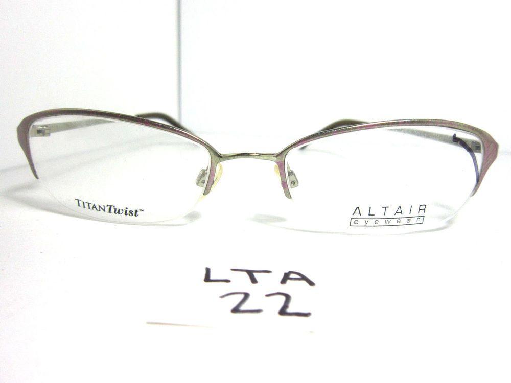 New ALTAIR Eyeglass Frame Half Rimless Metal A504 Womens Italy (LTA ...