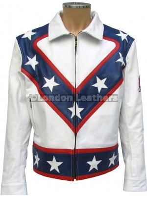 984ad9a78 Evel Knievel Star Spangled Leather Jacket | Casual Fashion Jacket ...
