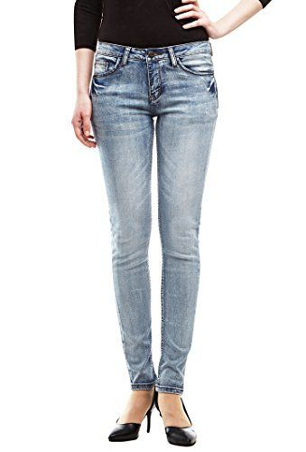 $0.19 (99% Off) on LootHoot.com - Allée Jeans Women's Premium Extra Comfort Skinny Jeans, Light Blue