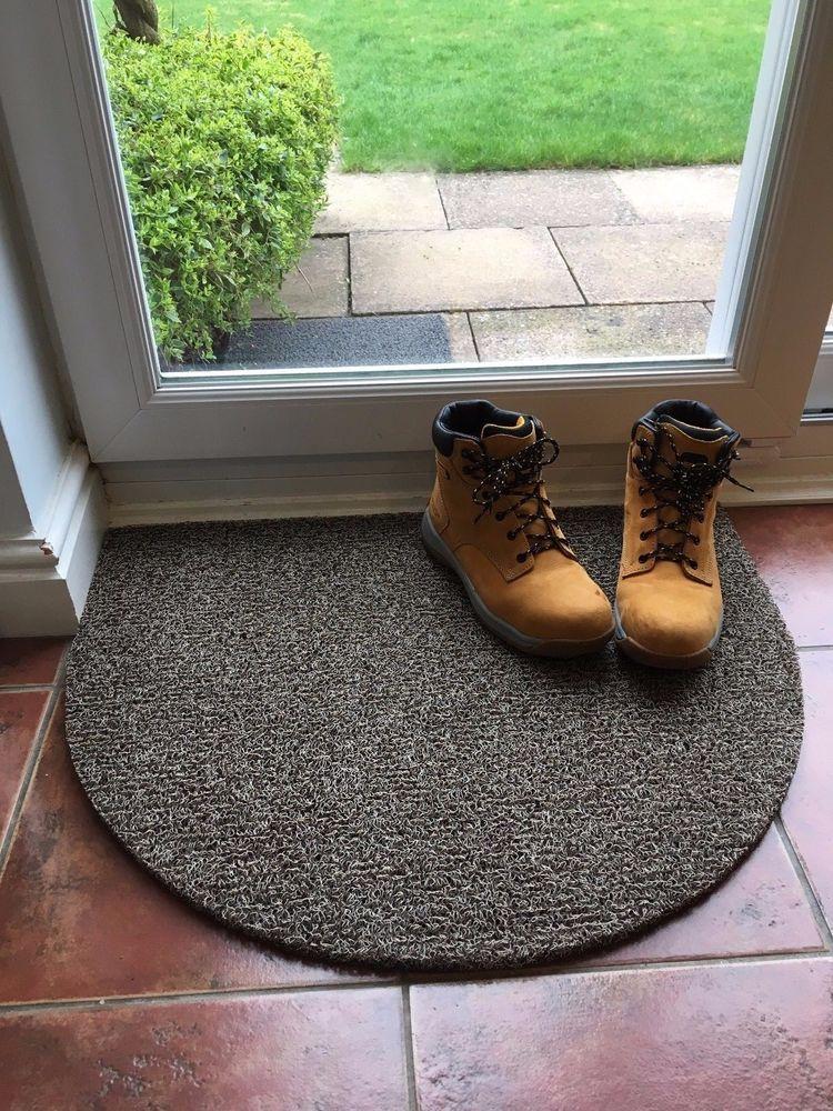 NICOMAN Dirt Trapper Boot Scraper Vinyl Looper Half Circle Door Floor Mat Rug #NICOMAN