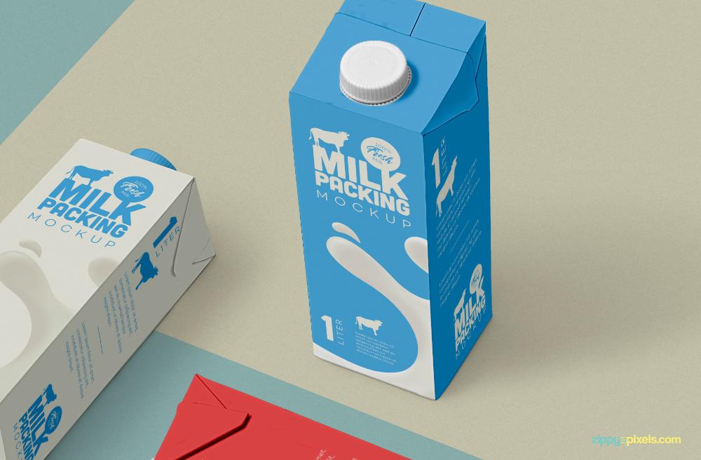 Download Free Milk Carton Mockup Zippypixels Milk Carton Carton Milk