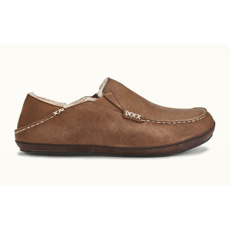 a6c1ee4d9b9 OluKai Moloa Slippers for Men - Toffee Dark Wood