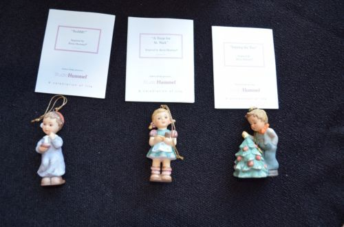 MINT-3pc-Studio-Hummel-Berta-Goebel-Ashton-Drake-Christmas-Ornaments-Set-11-COA