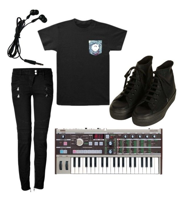 """I love Crown The Empire"" by phieo-thundersnow ❤ liked on Polyvore featuring Balmain and Topshop"