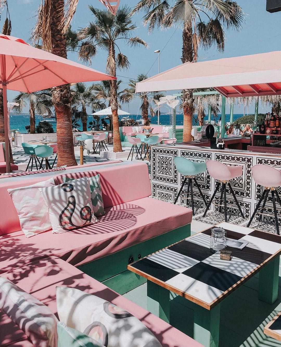 Pink Themed Ibiza Hotel Complete With A Heart Shaped Pool Floats Flower Walls And Flamingo Decor Is World S Most Instagrammable Hotel Hotel Ibiza Ibiza Beach Ibiza Travel