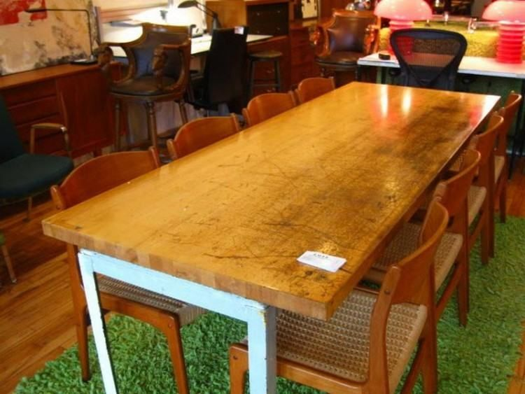 Butcher Block Dining Room Table Set Butcher Block Dining Table