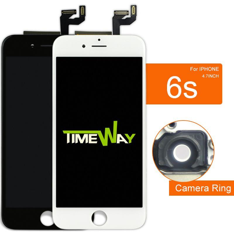 "5 pz no. 1 per iphone 6s lcd 4.7 ""screen display + touch digitizer assembly rimontaggio + macchina fotografica"
