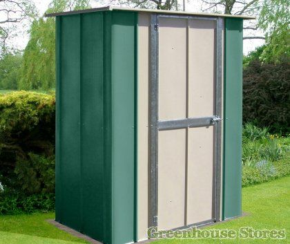Canberra 5x3 Utility Shed Greenhousestores Co Uk Shed Flat Roof Shed Metal Shed