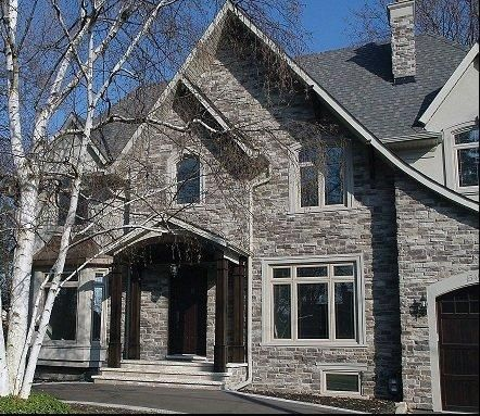 Exterior home stone siding canyon stone canada house Houses with stone facade