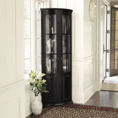 Full Chilton Curved Corner Cabinet - Tall Curved Glass Cabinet ...