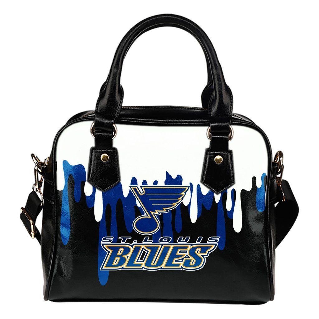 Color Leak Down Colorful St Louis Blues Shoulder Handbags Best Funny