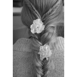 layered braids with flowers