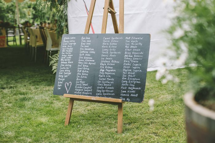 Wedding details - guest name on chalk board | i take you