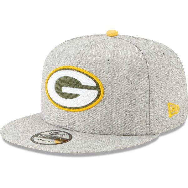 3c5fe305 Men's Green Bay Packers New Era Heathered Gray Hype 2 9FIFTY ...