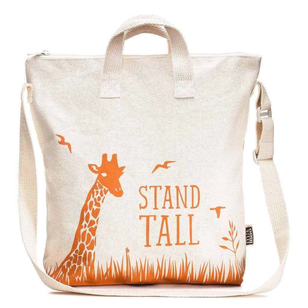 Steady Giraffe Kids Zipper Tote Bag