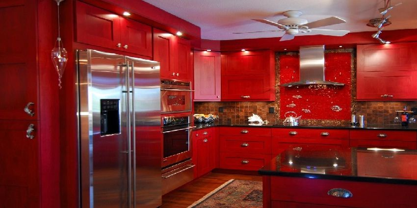 Red Kitchen Appliance Set Kitchen Appliance Ideas Pinterest