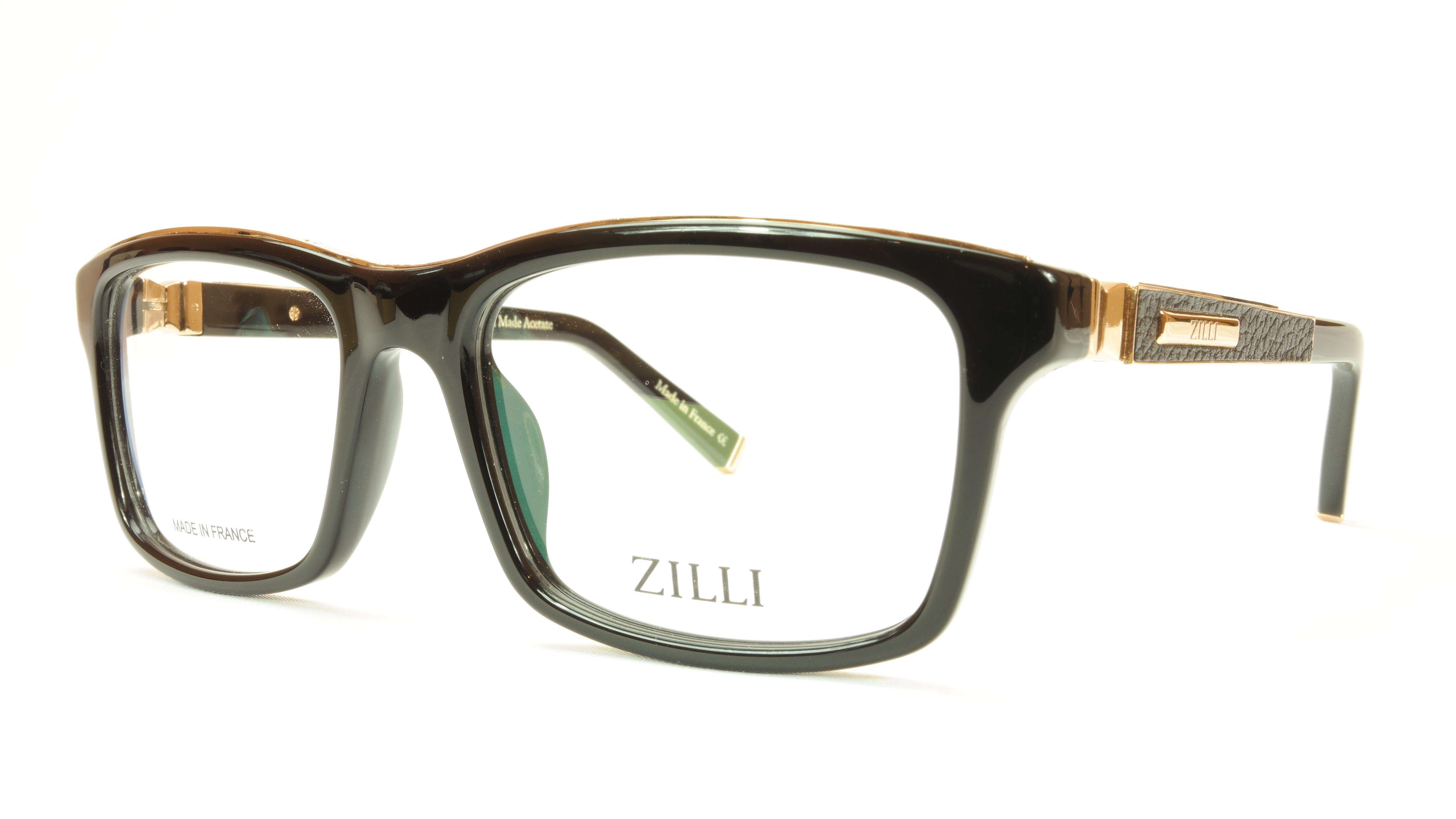 8cff8f9703c ZILLI Eyeglasses Frame Acetate Leather Titanium France Hand Made ZI 60001  C01