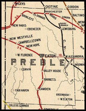 Preble County Ohio Railroad Stations Hometown History In