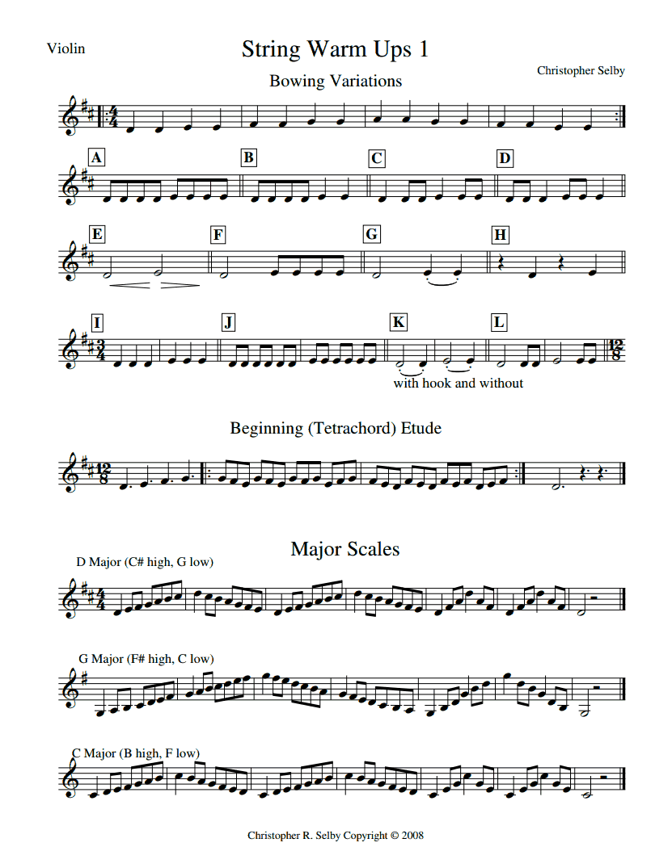 String Warm Ups 1 Violin pdf | food in 2019 | Violin, Violin sheet