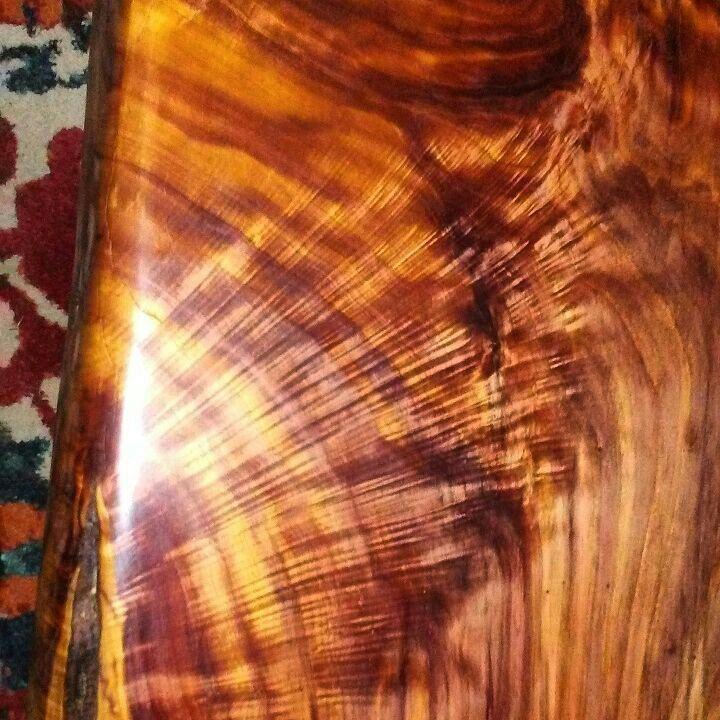 Cedar slab coffee table made by greyking designs www
