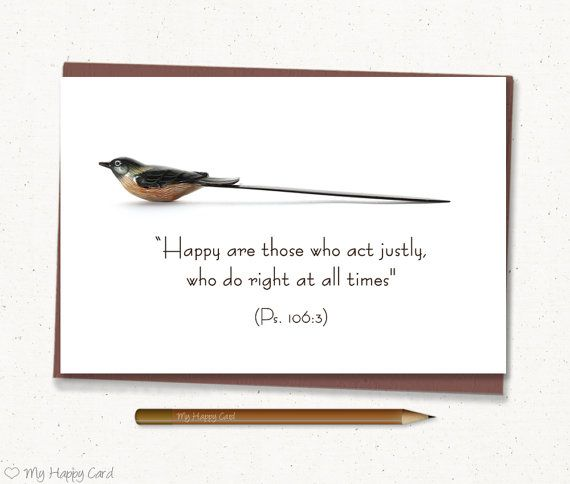 """Inspirational card, Happy Quote card, Jewish Quote, Jewish Bible quote Printable - 4""""X6"""" Digital file - Instant download - (Bird)"""