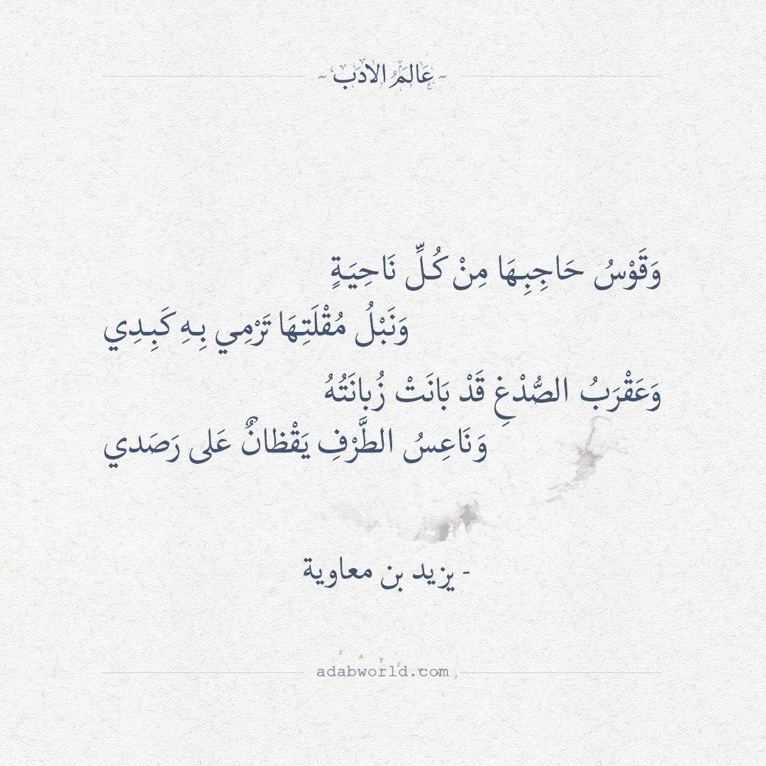 اجمل ابيات الغزل قيلت في الشعر ليزيد بن معاوية عالم الأدب Arabic Quotes Beautiful Arabic Words Poet Quotes