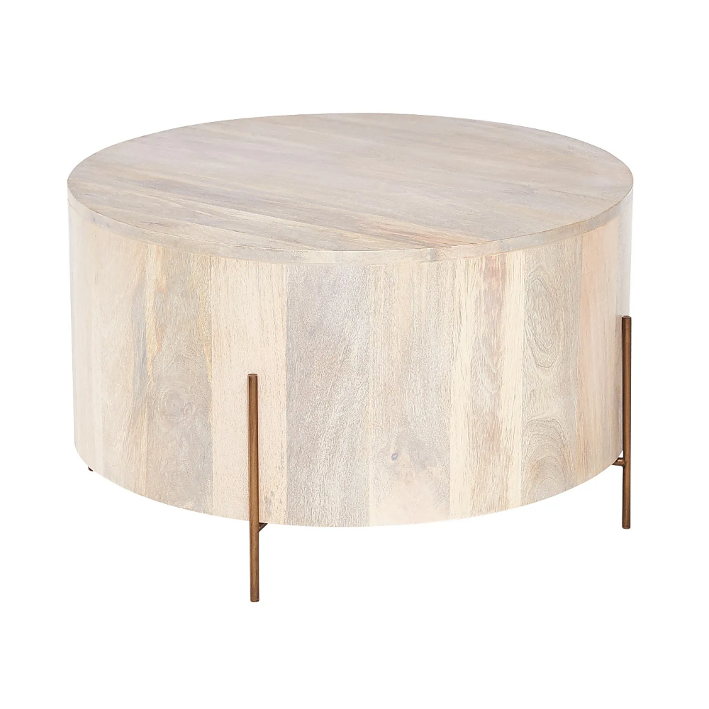 Stavros Whitewashed Wooden Round Coffee Table Pier 1 Round Coffee Table Modern Round Wood Coffee Table Drum Coffee Table
