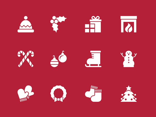 Christmas Holidays Icon.Christmas Minimal Icons Freebie Christmas Tutorials