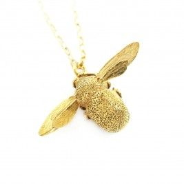 22kt Gold Plated Bee Necklace. Want!!!