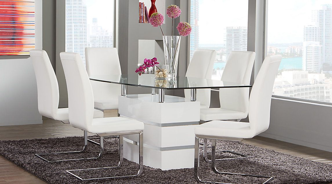 Contemporary Dining Room Table Sets With Chairs White Dining Room Sets Contemporary Dining Room Tables Dining Room Sets