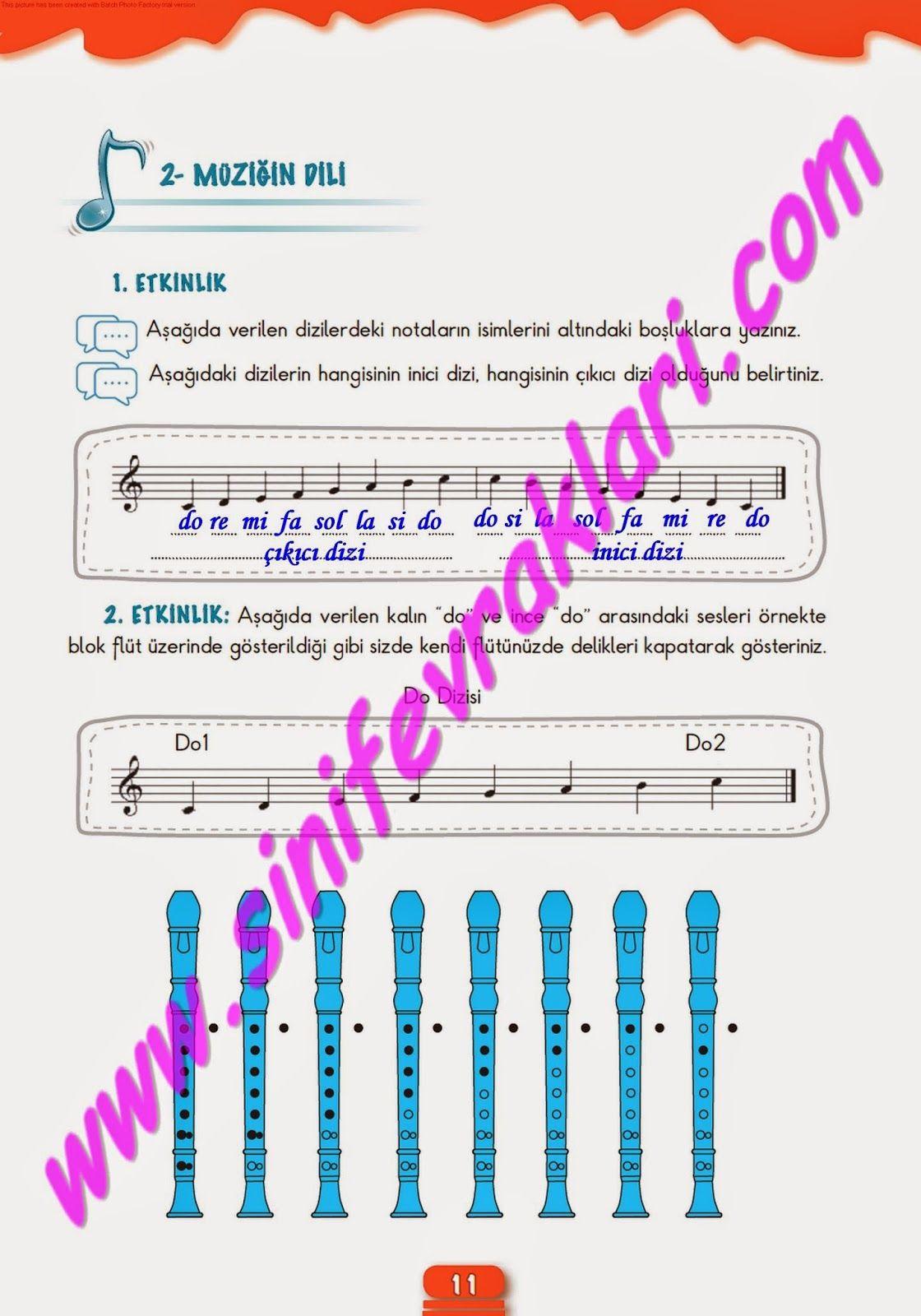 6sınıf Müzik çalışma Kitabı Cevapları Meb Yayınları Sayfa 11 Ders