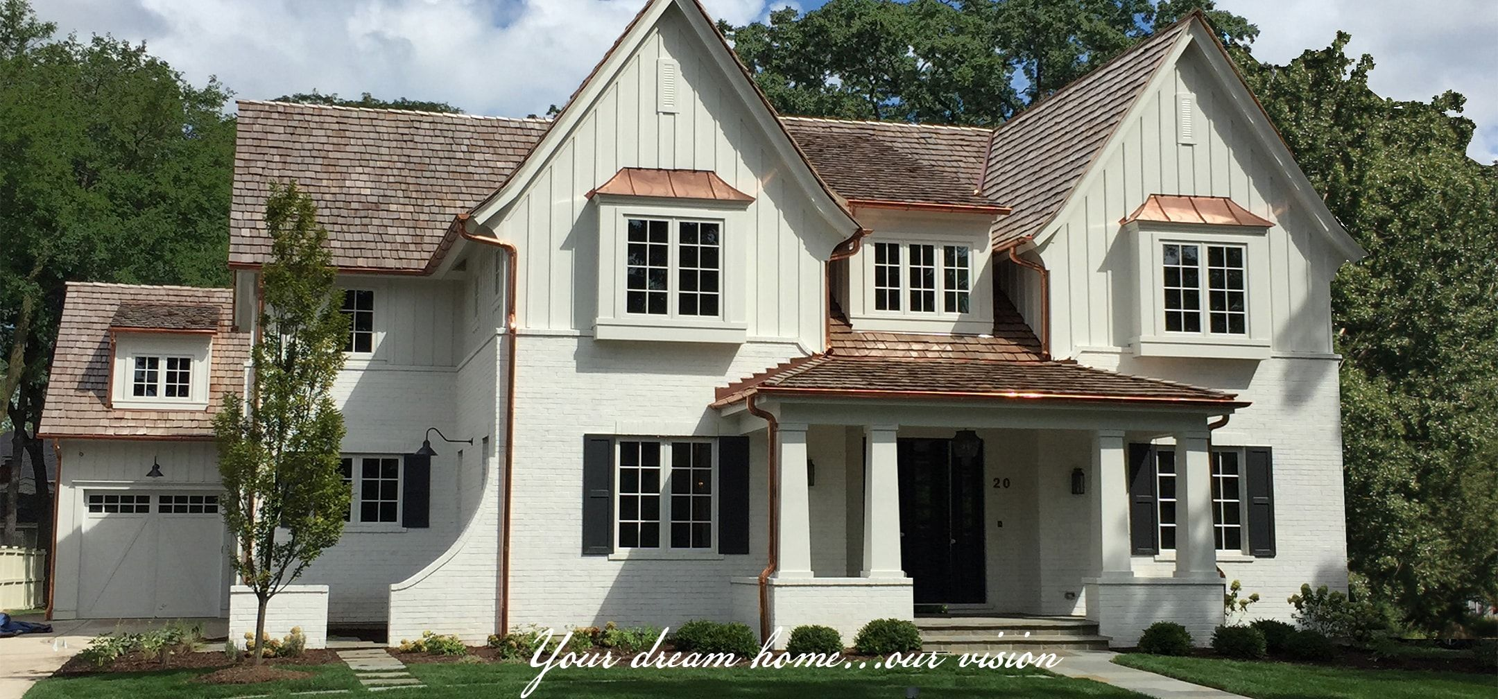 Vertical Siding Above Painted Brick Modern Farmhouse Exterior Brick Farmhouse Farmhouse Exterior