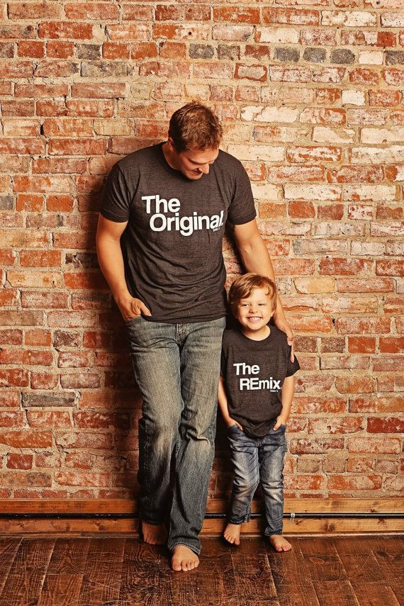 5839a4f87 Fathers Day Gift Matching Family Shirts, Original and Remix Matching Shirts,  Shirts Match Family Shirts, Dad Shirts, Son Shirts, T-shirt Set