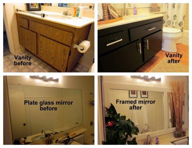 Interior Redo Bathroom Vanity 70s bath gets budget redo budgeting and small spaces redo