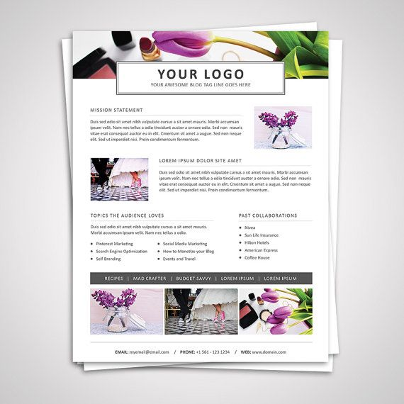 3 Page Media Kit Template 05 - Ad Rate Sheet Template - Press Kit - rate sheet template