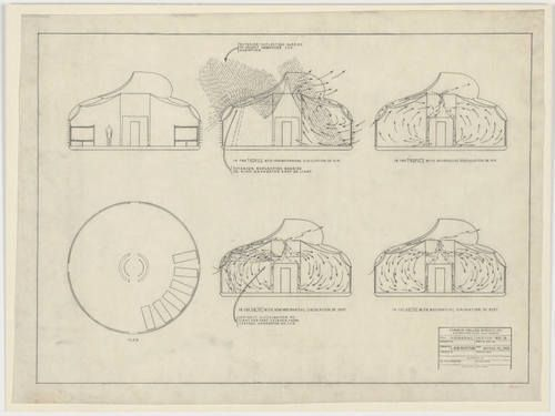 76e2db400fff5 ... Study for air circulation  plan and sections R. Buckminster Fuller  (American