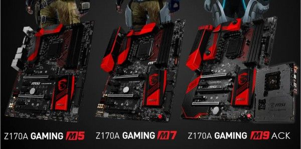 MSI Shows Off Z170 Gaming M Series Motherboards