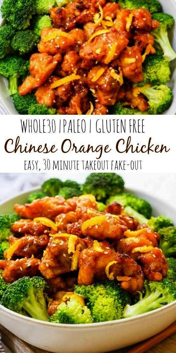 Whole30 Chinese orange chicken is the best takeout fakeout ever Some Dieses einfache chinesische Orangenhähnchen Whole30 ist das beste zum Mitnehmen das es je gab Et...