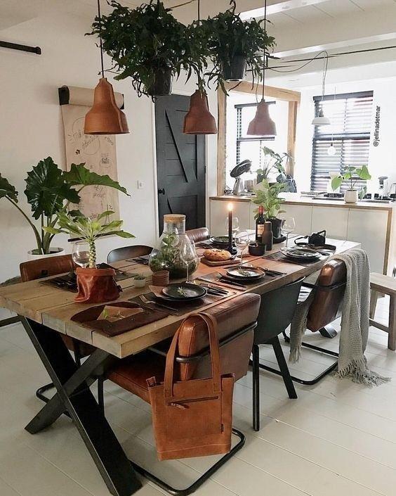 39 Popular Rustic Farmhouse Style Ideas For Dining Room Decor #farmhousediningroom